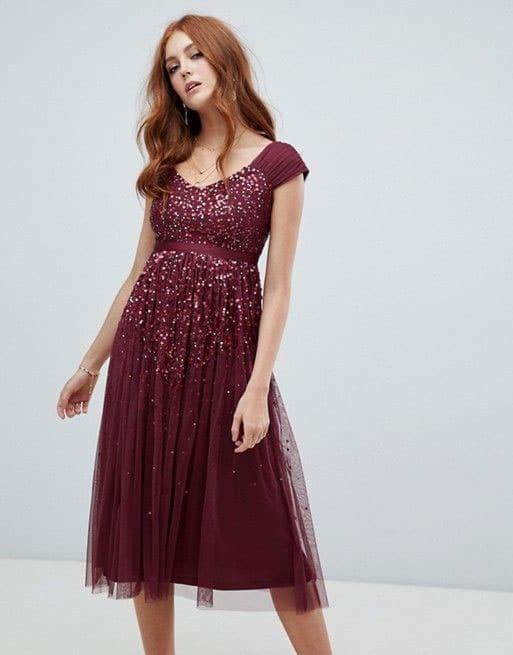 robe-rouge-bordeaux-sequin-demoiselle-honneur-mariage