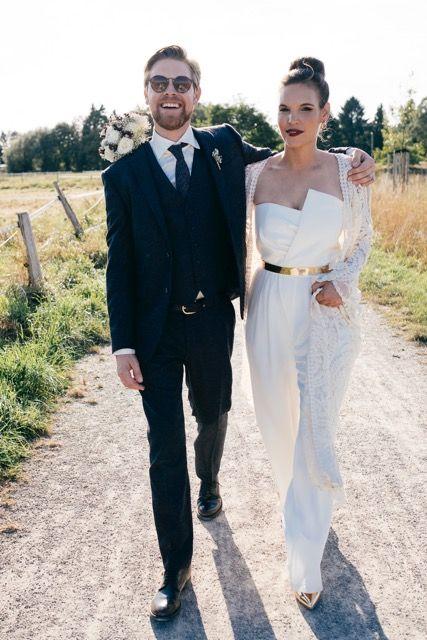 kaviar gauche ensemble pantalon de mariee
