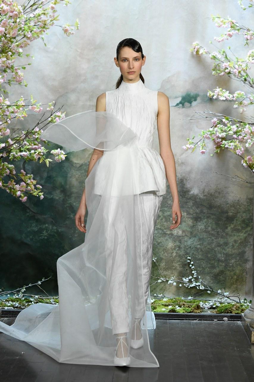pantalon de mariage avec jupe