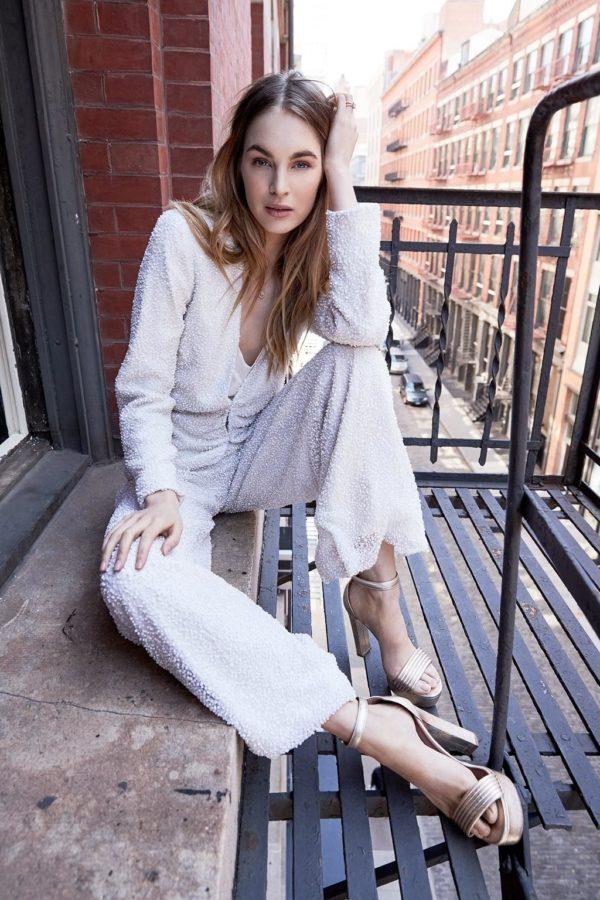 pantalon de mariee avec sequin Savannah Miller