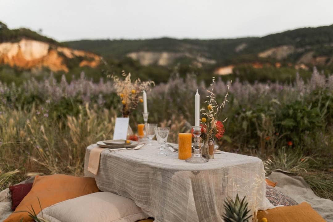 table mariage intimiste