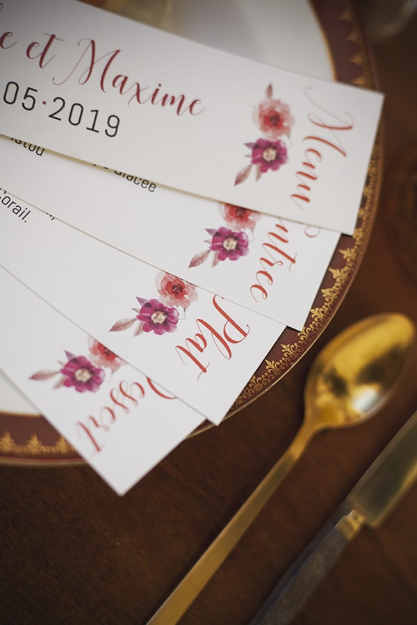 Inspiration papeterie mariage floral