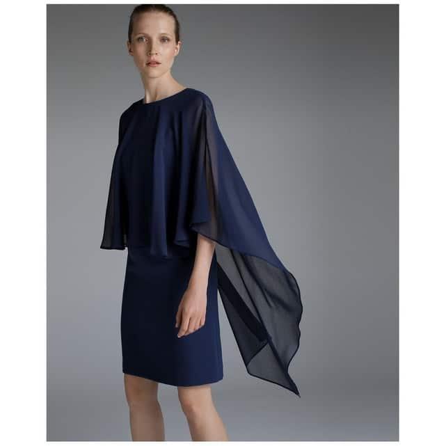 robe courte avec cape femme 50 ans pour mariage