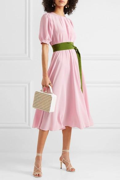 robe en soir femme 50 ans a manches rose pale