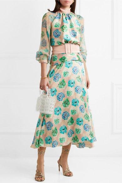 robe fleurs soir femme 50 ans pour mariage