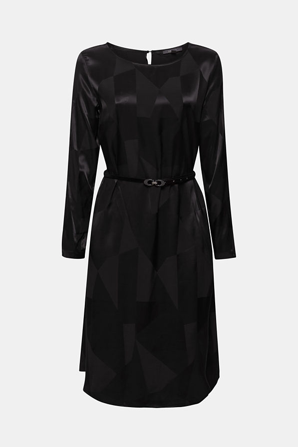robe jacquard noire mariage