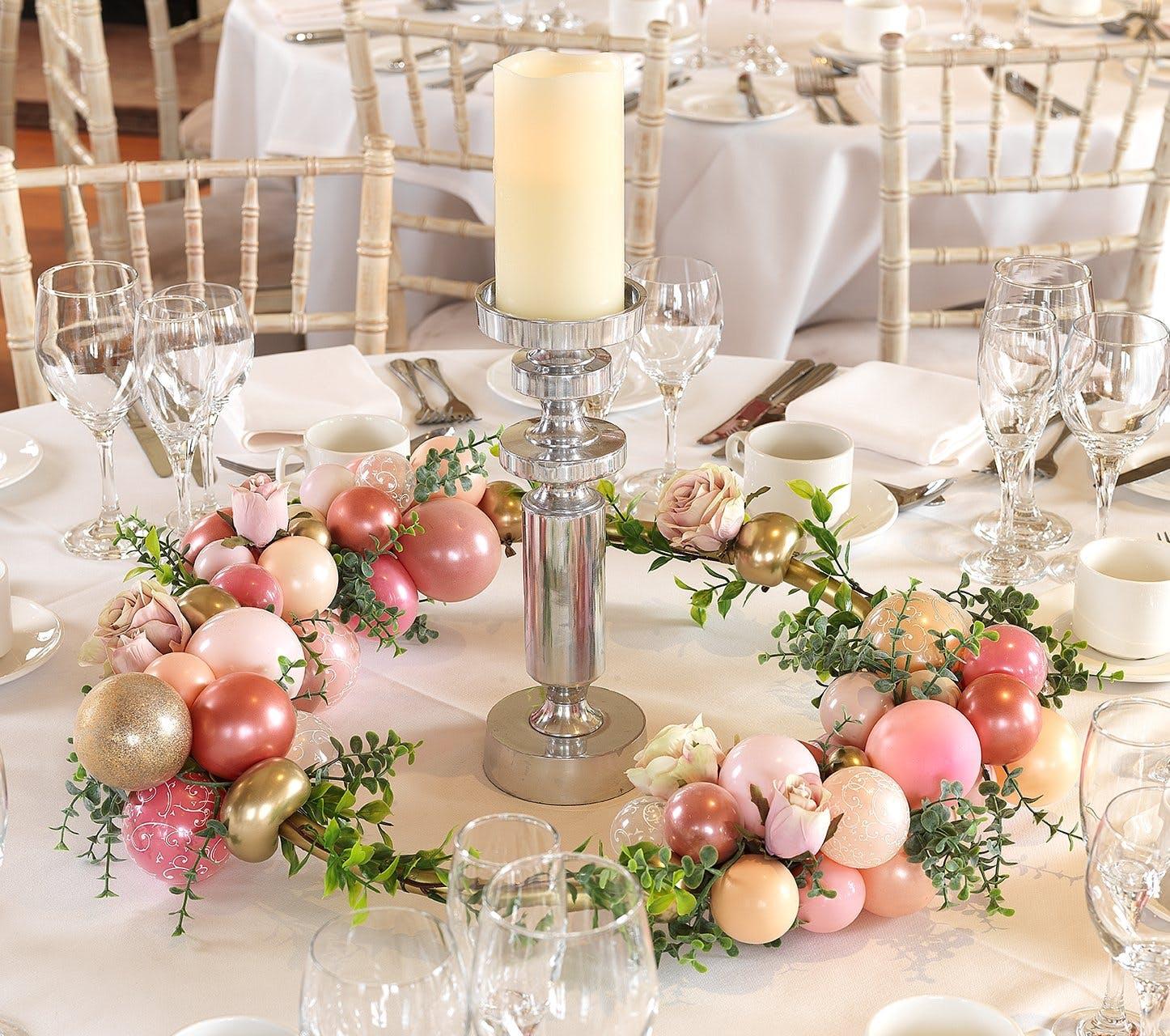 ballons pour décoration de table mariage