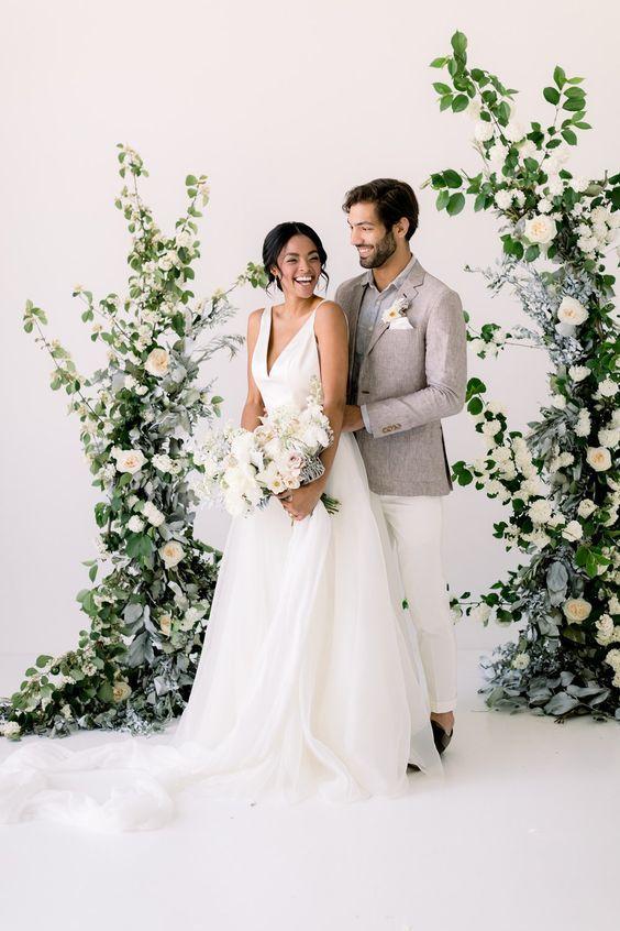 arche fleurs mariage