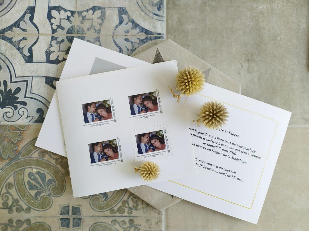 timbres mariage personnalisés