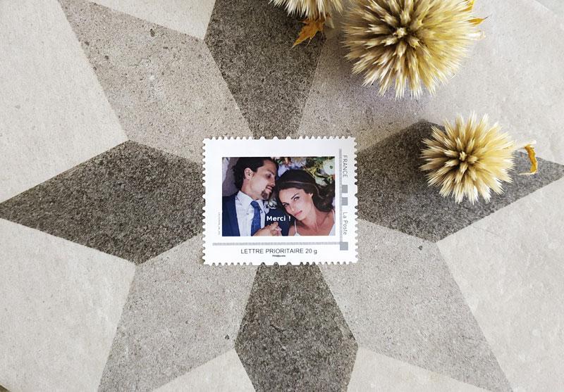 timbres mariage sur mesure avec photo