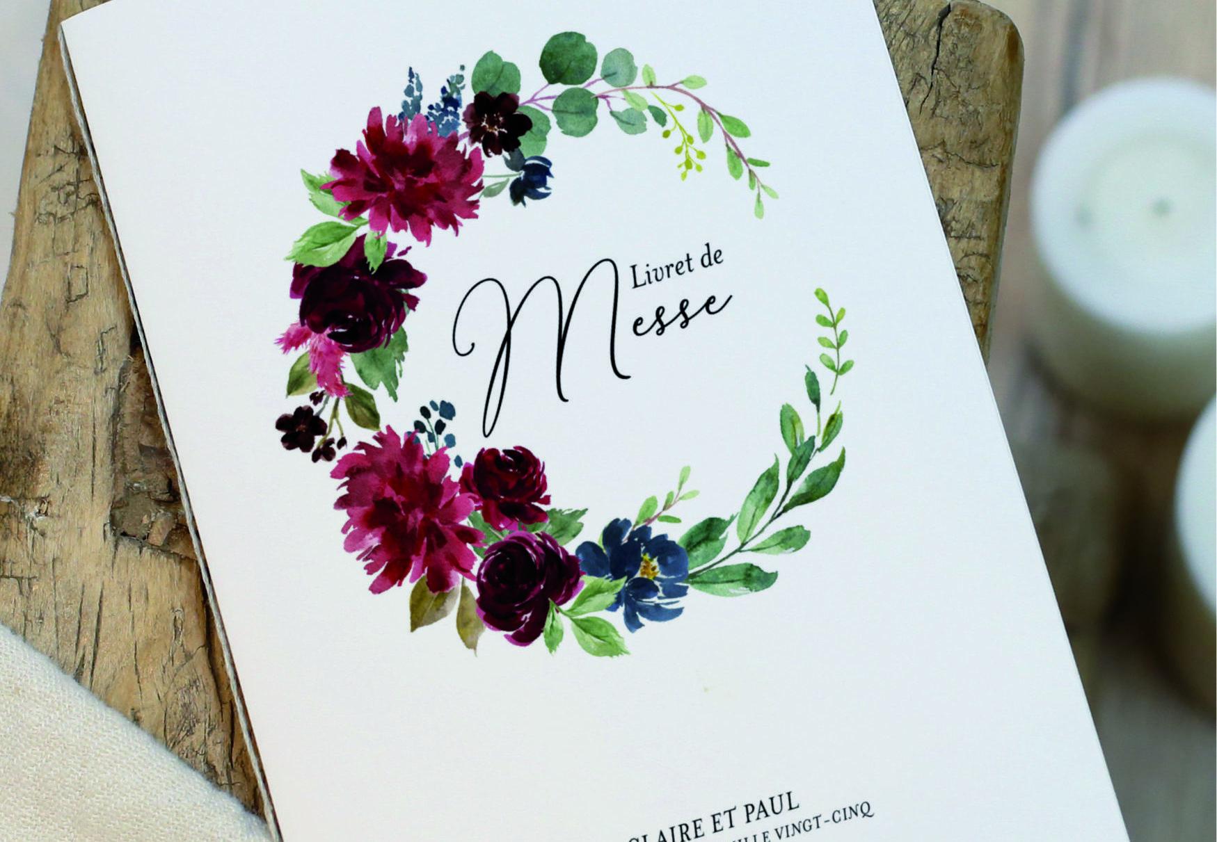 Tout savoir sur le livret de messe mariage