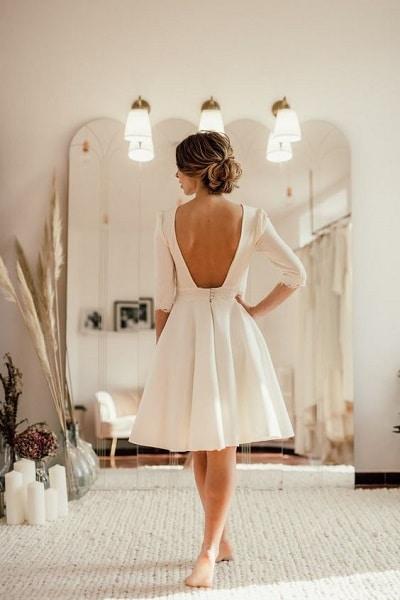 robe-mariée-vintage-courte