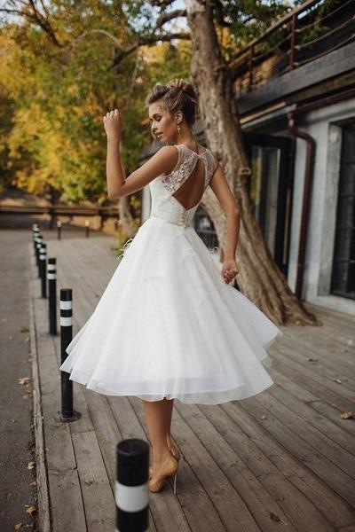 robe-mariée-courte-rétro