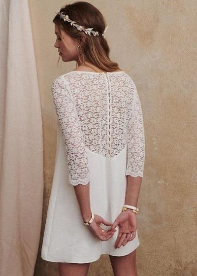 robe-mariée-courte-manches-longues