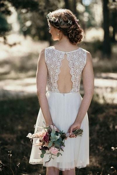robe-mariée-courte-dentelle