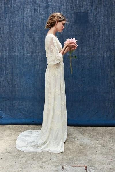 robe-mariée-bohème-simple