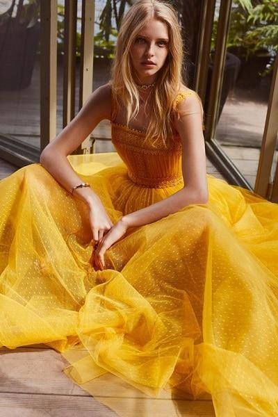 robe-cocktail-jaune
