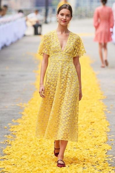 robe-midi-jaune