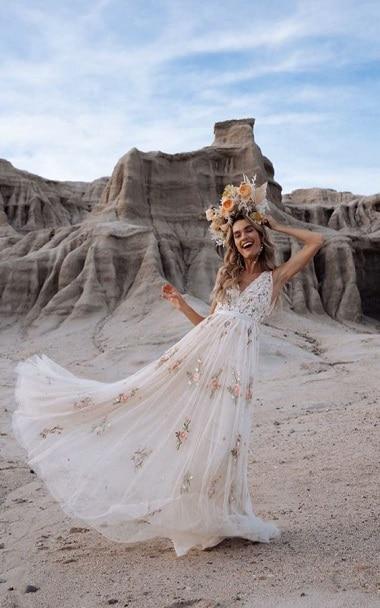 robe-mariée-fleurie