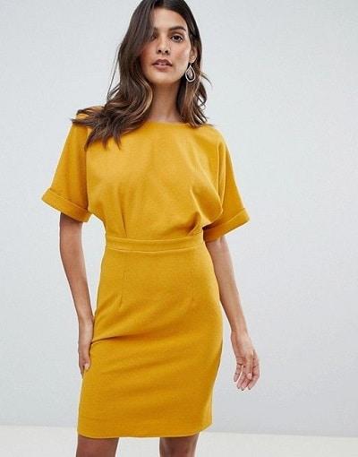 robe-fourreau-jaune