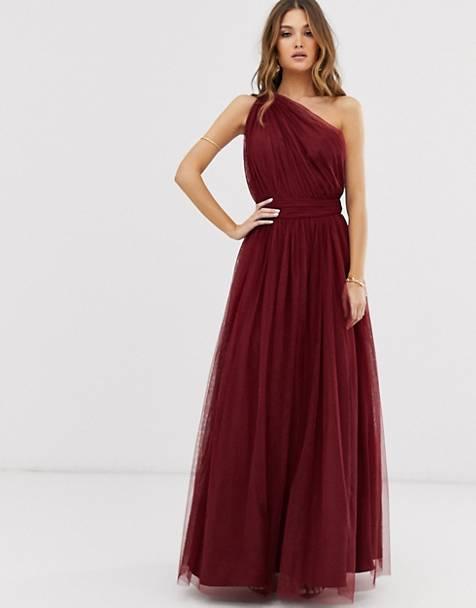 robe-asymétrique-tulle-bordeaux