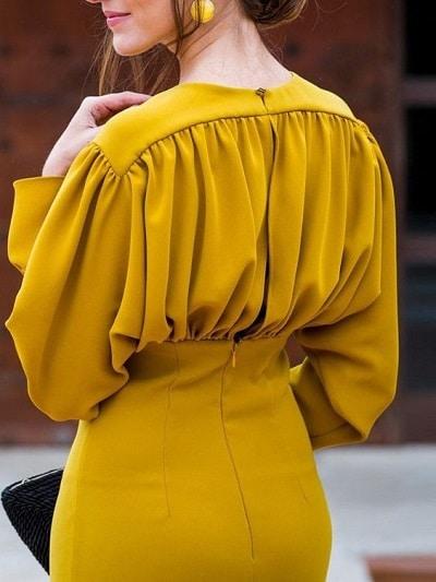 robe-fourreau-manches-longues