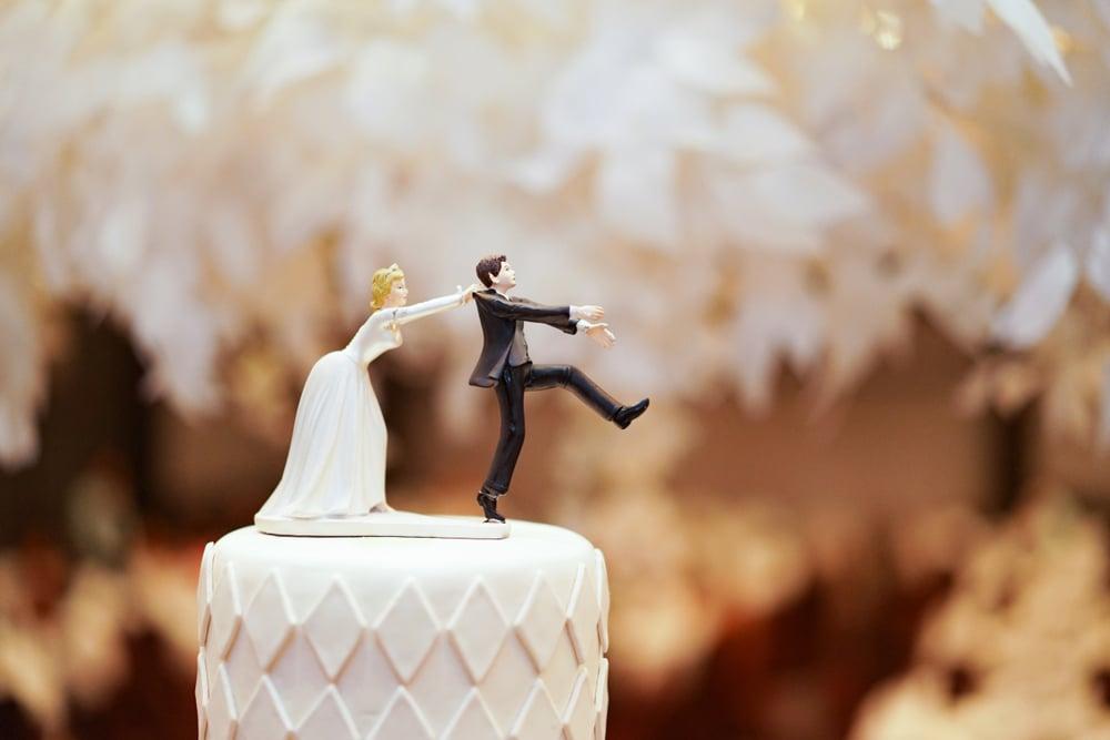 cake topper mariage original