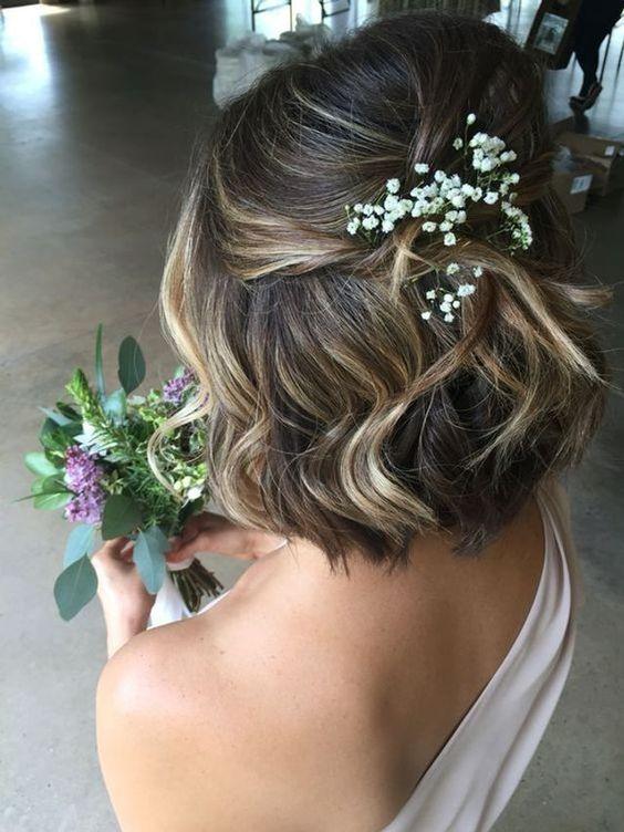 coupe carré coiffure mariage