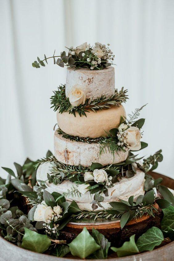gateau de mariage pièce montée fromage