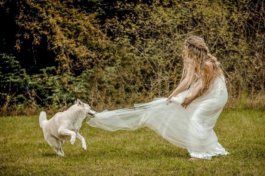 faire un trash the dresse et détruire sa robe de mariée